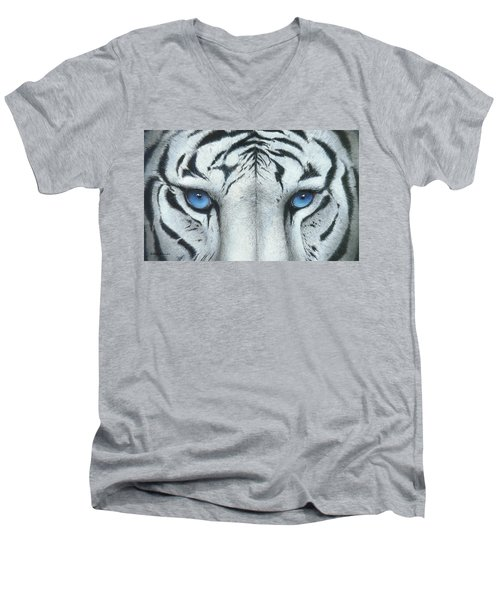 Locked In Men's V-Neck T-Shirt by Mike Brown