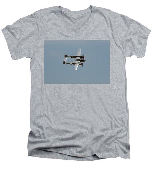 Lockheed P 38 Lightning Men's V-Neck T-Shirt by Richard J Cassato