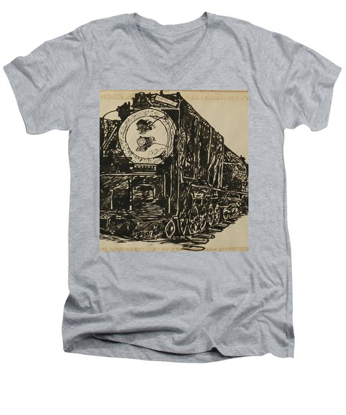 Locomotive Study Men's V-Neck T-Shirt