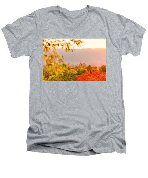 Logan Temple Men's V-Neck T-Shirt