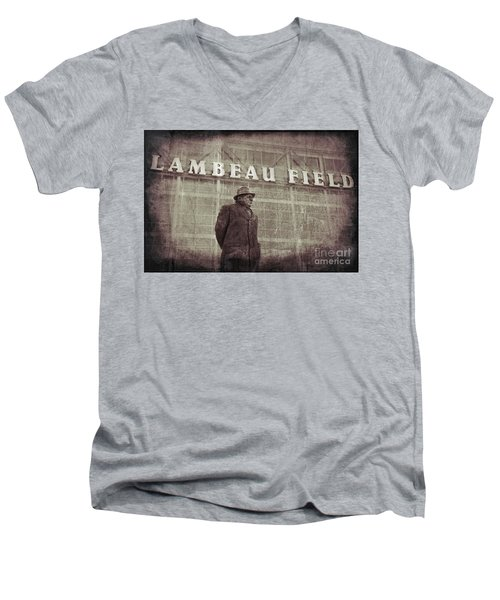 Lombardi At Lambeau Men's V-Neck T-Shirt