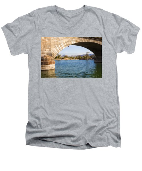 London Bridge At Lake Havasu City Men's V-Neck T-Shirt