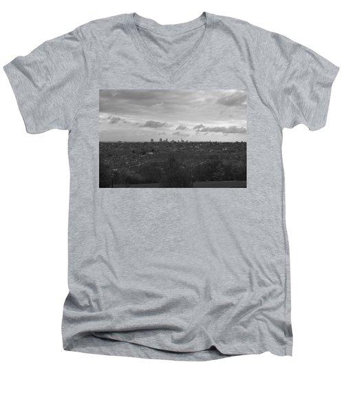 Men's V-Neck T-Shirt featuring the photograph London City by Maj Seda