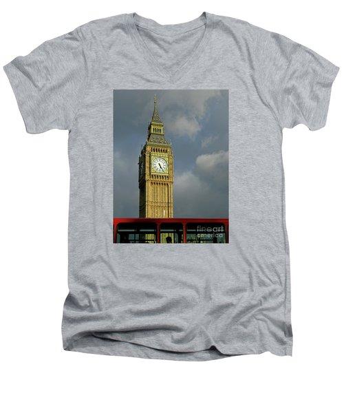 London Icons Men's V-Neck T-Shirt by Ann Horn