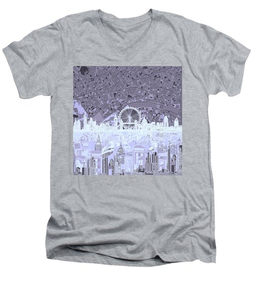 London Skyline Abstract 10 Men's V-Neck T-Shirt