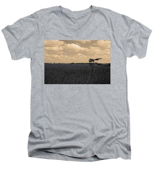 Lone Cypress II Men's V-Neck T-Shirt