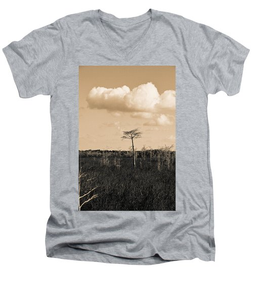 lone cypress III Men's V-Neck T-Shirt
