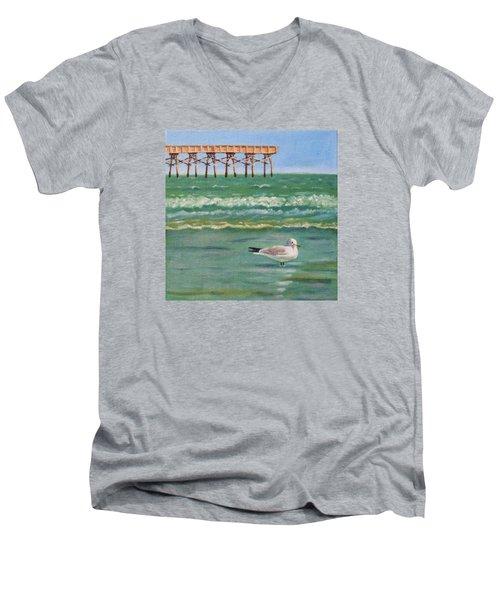 Lone Gull A-piers Men's V-Neck T-Shirt