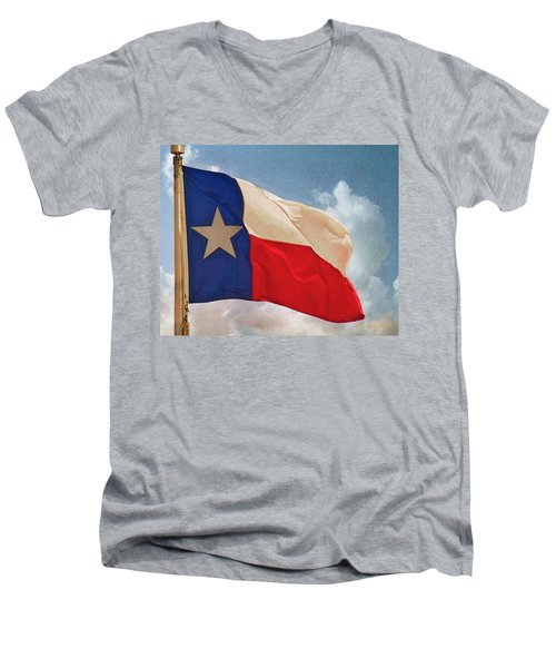 Lone Star Flag Men's V-Neck T-Shirt
