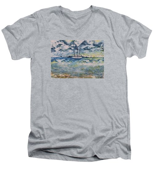 Lone Vessel  Men's V-Neck T-Shirt