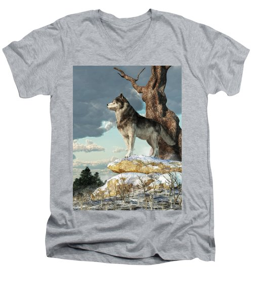 Lone Wolf Men's V-Neck T-Shirt