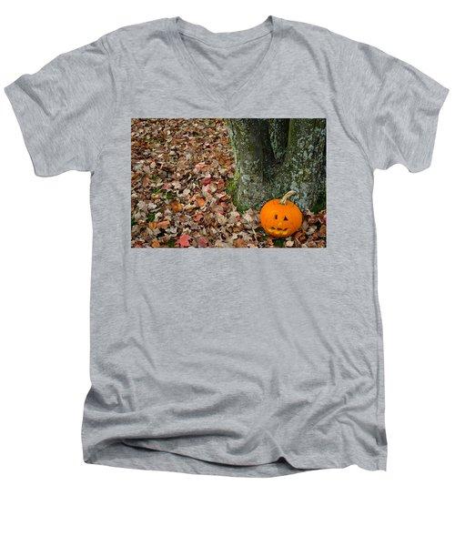 Lonely Pumpkin Men's V-Neck T-Shirt
