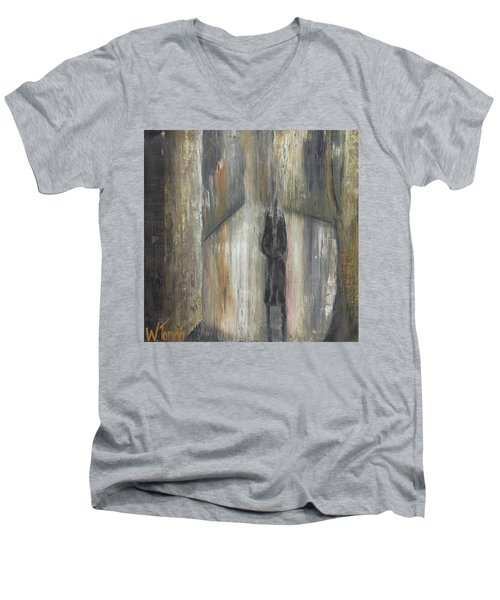 'lonely Road Without Him' Men's V-Neck T-Shirt