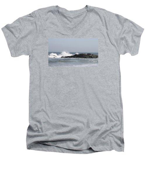 Long Beach Jetty Men's V-Neck T-Shirt