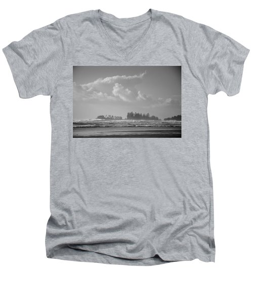 Long Beach Landscape  Men's V-Neck T-Shirt by Roxy Hurtubise