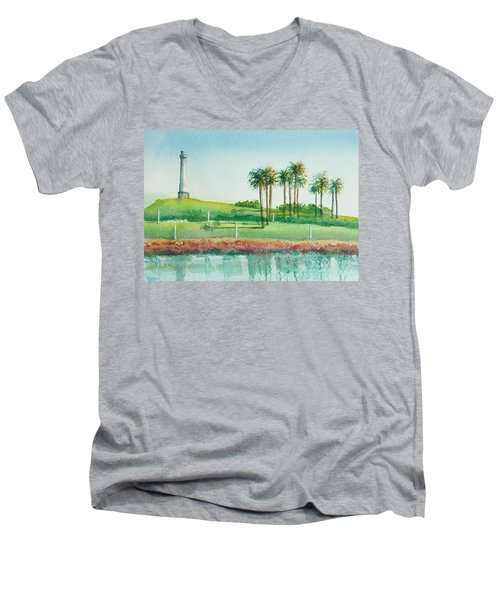 Long Beach Lighthouse Men's V-Neck T-Shirt