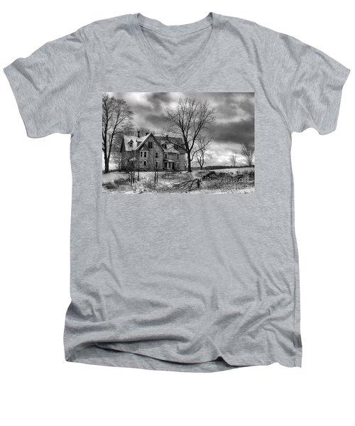 Long Hard Winter Men's V-Neck T-Shirt
