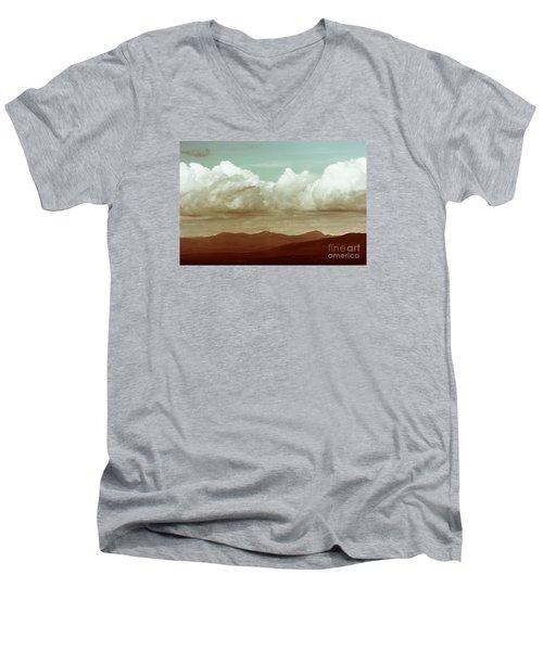 Men's V-Neck T-Shirt featuring the photograph Long Horizon by Dana DiPasquale