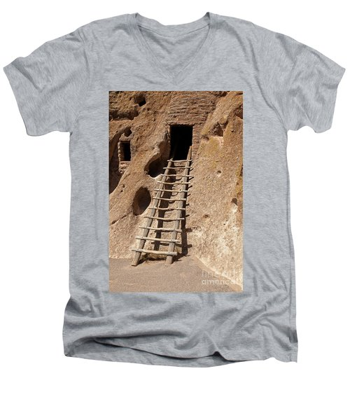Long House Front Door Bandelier National Monument Men's V-Neck T-Shirt