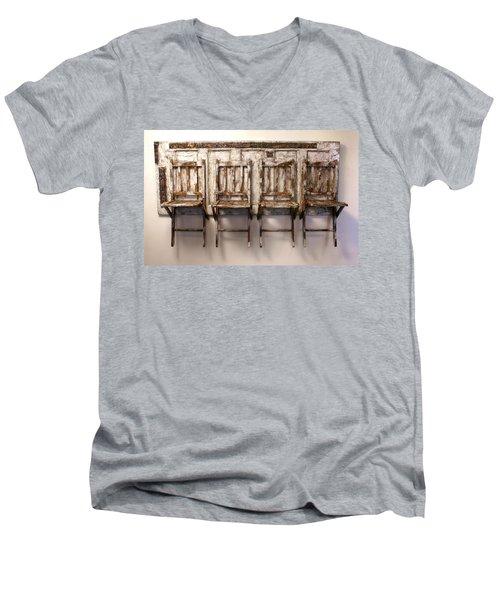 Long Wait By The Door Men's V-Neck T-Shirt