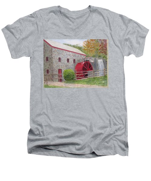 Longfellow's Gristmill Men's V-Neck T-Shirt