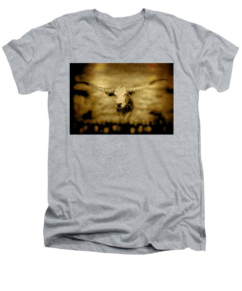 Longhorn Bull Men's V-Neck T-Shirt