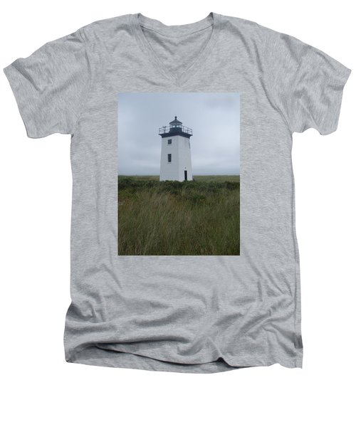 Longpoint Lighthouse Men's V-Neck T-Shirt