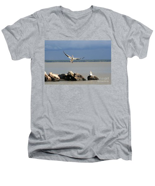 Look Ma - I Can Fly Men's V-Neck T-Shirt