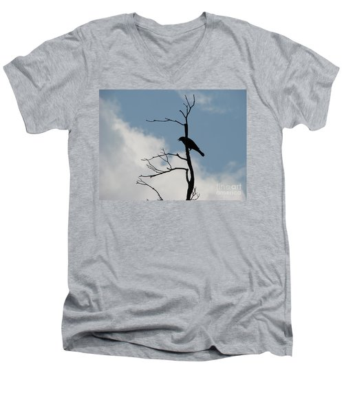 Men's V-Neck T-Shirt featuring the photograph Looking Down On Me  by Michael Krek