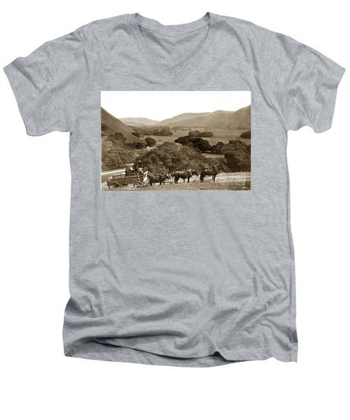 Looking Up The Carmel Valley California Circa 1880 Men's V-Neck T-Shirt