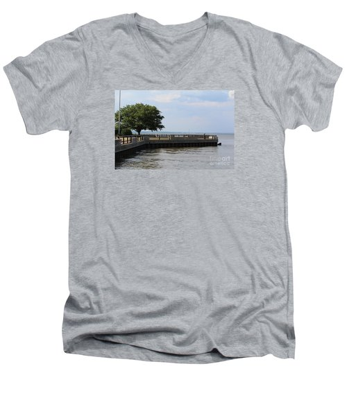 Lookout Point Men's V-Neck T-Shirt by David Jackson