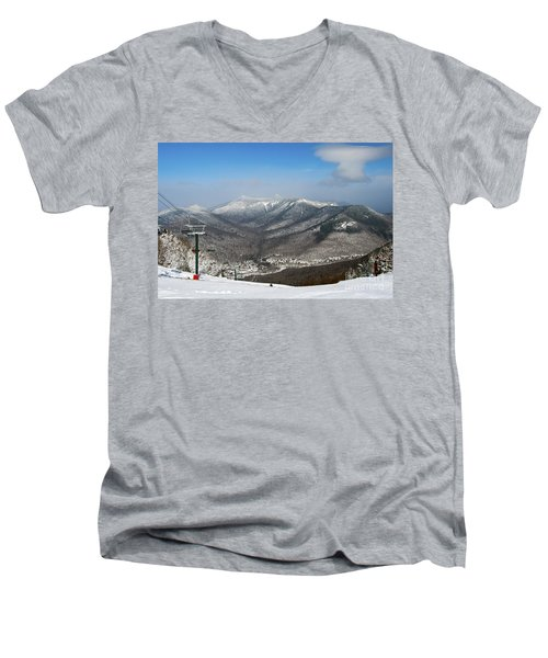Loon Mountain Ski Resort White Mountains Lincoln Nh Men's V-Neck T-Shirt