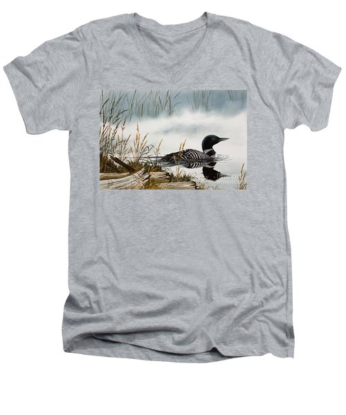 Loons Misty Shore Men's V-Neck T-Shirt