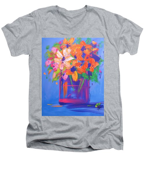 Loosey Goosey Flowers Men's V-Neck T-Shirt