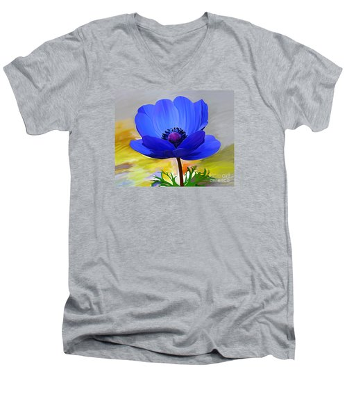 Men's V-Neck T-Shirt featuring the painting Lord Lieutenant by Patricia Griffin Brett