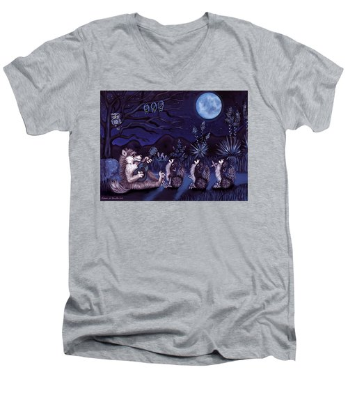 Los Cantantes Or The Singers Men's V-Neck T-Shirt