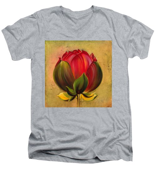 Lotus Bulb Men's V-Neck T-Shirt