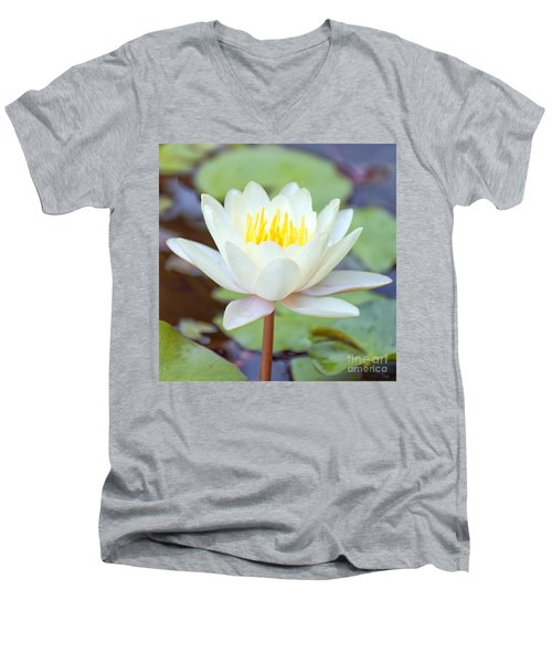 Lotus Flower 02 Men's V-Neck T-Shirt