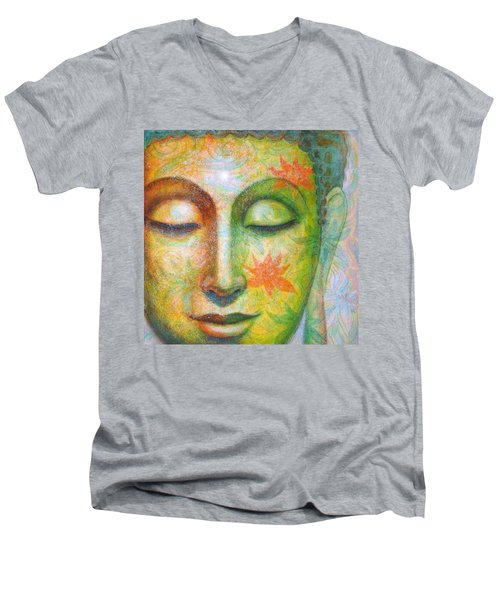 Lotus Meditation Buddha Men's V-Neck T-Shirt