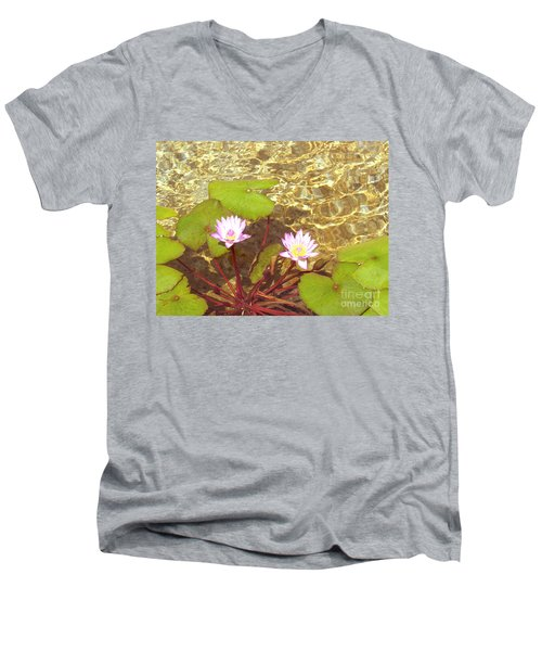 Men's V-Neck T-Shirt featuring the photograph Lotus by Mini Arora
