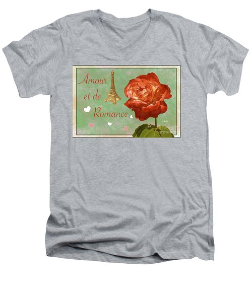 Love And Romance Men's V-Neck T-Shirt by Claudia Ellis