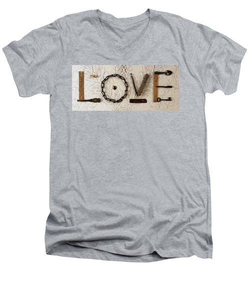 Love Men's V-Neck T-Shirt