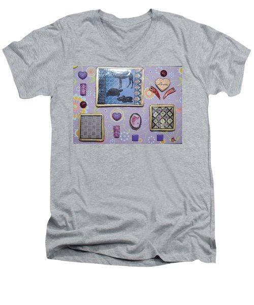 Love Collage Men's V-Neck T-Shirt