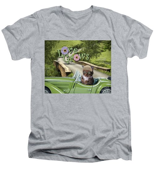 Love Grows Men's V-Neck T-Shirt