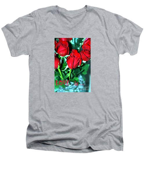 Love Is... Collection. Delightful Men's V-Neck T-Shirt