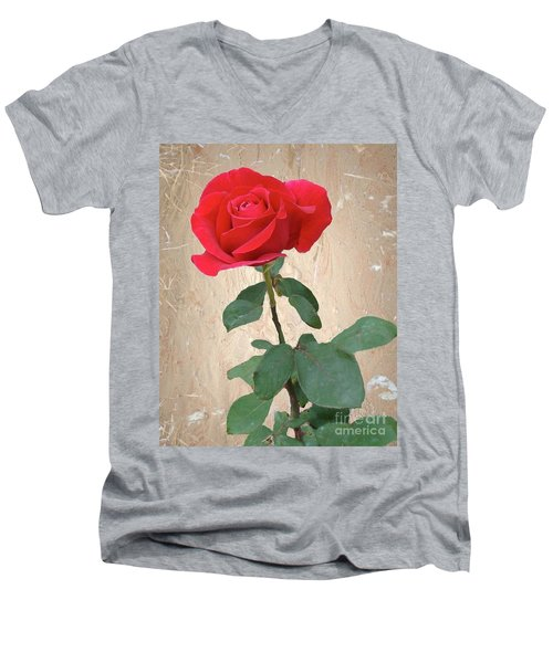 Love Is Like A Red Red Rose Men's V-Neck T-Shirt