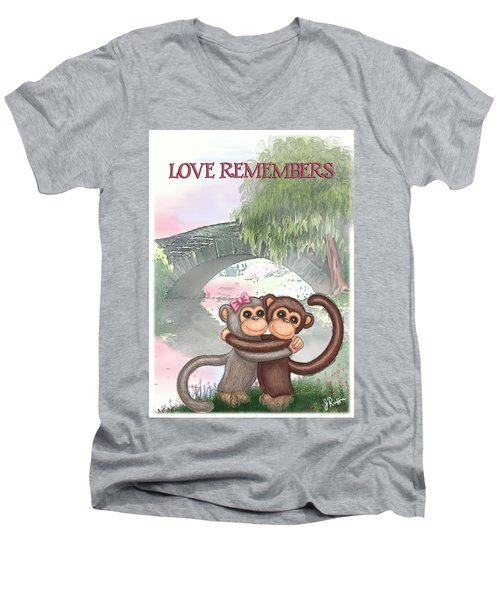 Love Remembers Men's V-Neck T-Shirt by Jerry Ruffin
