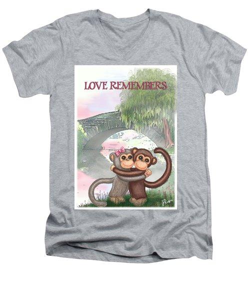 Love Remembers Men's V-Neck T-Shirt