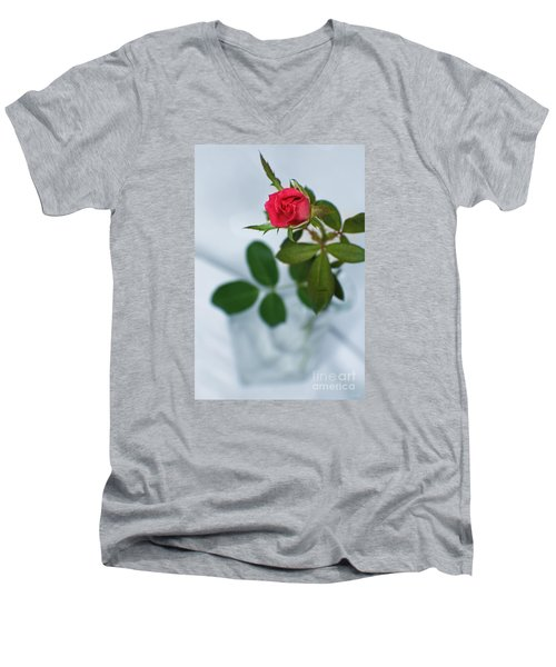 Men's V-Neck T-Shirt featuring the photograph Love Whispers Softly by Ella Kaye Dickey