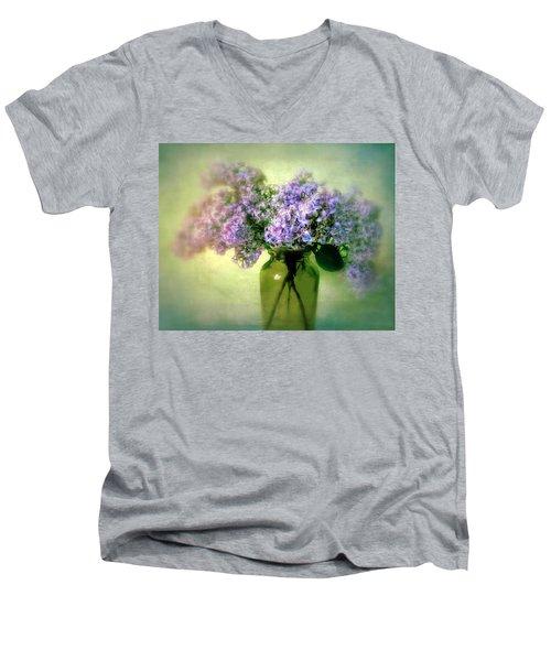 Lovely Lilac  Men's V-Neck T-Shirt